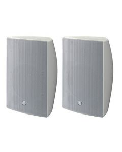 "Yamaha VXS8W 8"" 2-WAY SURFACE MOUNT SPEAKERS, White Pair"